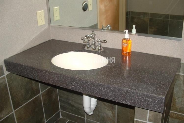 Столешница для ванной из искусственного камня фото Столы искуственный камень Муханово