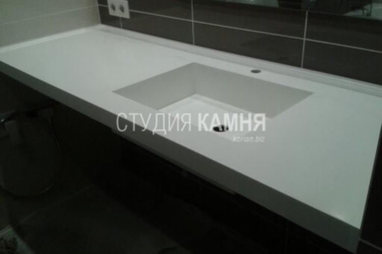 Столешница с литой раковиной из искусственного камня для ванной столешница из цветного камня Пирочи