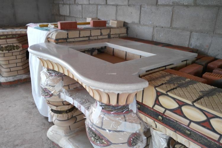 Столешницы из искусственного камня для барбекю угольный гриль-барбекю lappigrill inox-v
