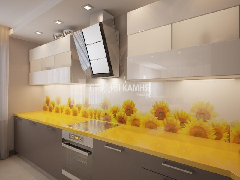 Столешница жёлтый камень Раковина из искусственного камня corian Синичино