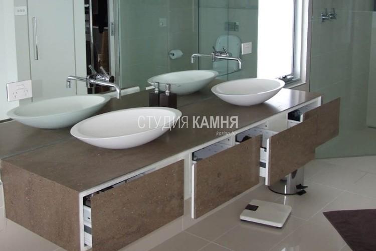 Столешница с 2 мойками в ванную